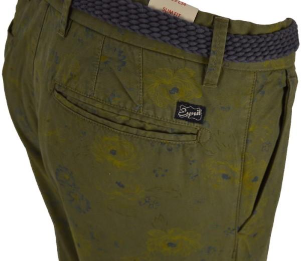 ichmichmirmeins - Esprit Coupe Étroite Slim Fit Damen Jeans mit Blumenmuster - Seitenansicht Detail
