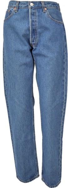 ichmichmirmeins Herren Jeans Levis 501 Frontansicht blau