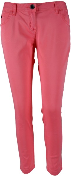 ichmichmirmeins | Tom Tailor 7/8 Extra Skinny Fit Damen Capri Jeans - Frontansicht pink