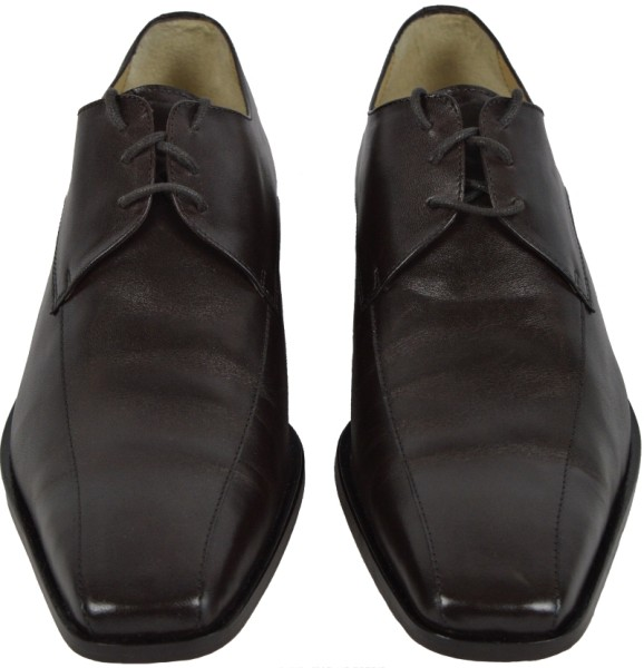 ichmichmirmeins - Business Herrenschuh News Mec - RD Paris Chaussures - 907 Cuir Kafe Col 2322 - Frontansicht